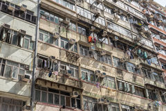 Old Hong Kong apartments Stock Photos