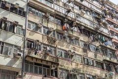 Old Hong Kong apartments Stock Photos
