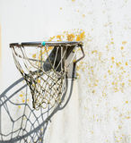 Old hoop with net Royalty Free Stock Photos