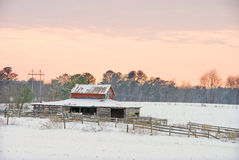 Old horse barn. An old horse barn and corral Stock Photo