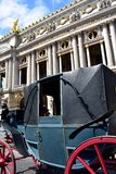Old horse carriage at Opera Garnier, Paris, France. royalty free stock images