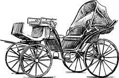 Roads & Carriages Old-horse-carriage-vector-drawing-vintage-42272474