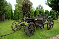 Old horse-drawn carriage Stock Photo