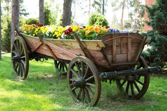 The old horse-drawn carriage Stock Photos
