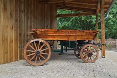Old horse-drawn carriage in retro style Royalty Free Stock Photos