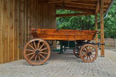 Old horse-drawn carriage in retro style Royalty Free Stock Photography