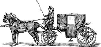 Old horse-drawn carriage Royalty Free Stock Photography