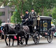 Free Old Horse Drawn Funeral Carriage Stock Photography - 102575732