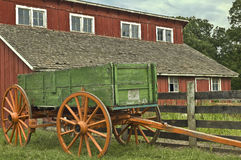 Old Horse Drawn Wagon Stock Photo