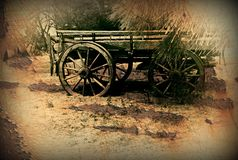 Old horse drawn wagon Stock Photography