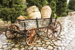 Old horse drawn wooden cart Royalty Free Stock Photography