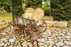 Old horse drawn wooden cart Royalty Free Stock Image