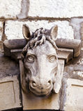 Old horse head sculpture Royalty Free Stock Photos