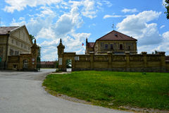 The old horse stable. A beautiful southern mansion stands in Southern Bohemia Stock Photo