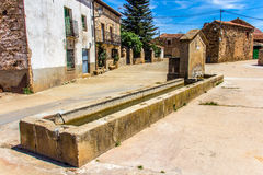 A old horse trough and fountain Royalty Free Stock Images