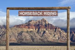 Old Horseback Riding Sign Stock Photography