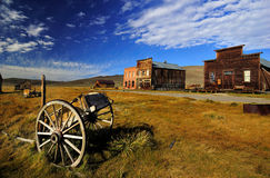 Old horsecar at Bodie, California Stock Photography