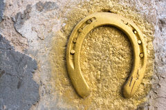 Old horseshoe as a traditional good l Royalty Free Stock Photo