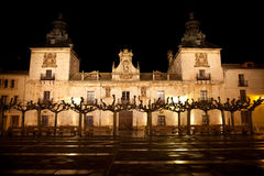 Old Hospital of Burgo de Osma at night Stock Photography