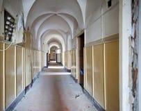 Old hospital corridor Royalty Free Stock Photography