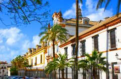 The old hospital. The Hospital de la Caridad is a baroque charity hospital building with a chapel, Seville, Spain Stock Photography