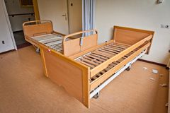 Old hospitalbeds Royalty Free Stock Photography