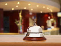 Old hotel bell. Service bell at the hotel Stock Image
