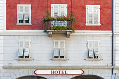 Old hotel building Royalty Free Stock Photos