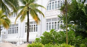 Old hotel in colonial style. Old hotel in Malaysia in colonial style Royalty Free Stock Images