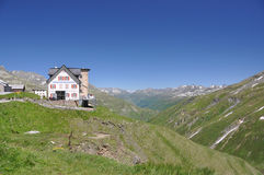 Hotel on the Furka pass, Switerland Stock Photos