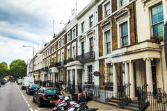 Old hotel houses in the area  Kensington Olympia, London Royalty Free Stock Photos
