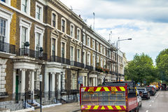 Old hotel houses in the area  Kensington Olympia, London Stock Photos