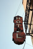 Old hotel sign. Old sign for a run down hotel in Yuma, Arizona Stock Photos