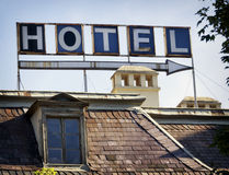 Old hotel sign Royalty Free Stock Photos