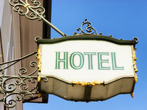 Old hotel sign Stock Image
