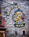Old hotel sign Stock Photography