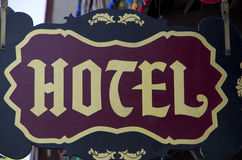 Old hotel sign Royalty Free Stock Photography