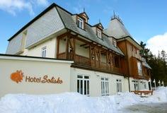Old hotel in Tatras. Stock Photo