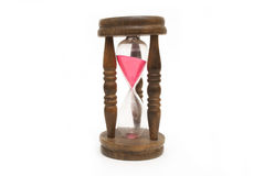 Old hourglass isolate on white background Stock Photography