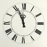 Old hours with figured arrows Royalty Free Stock Image