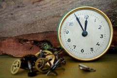 Old hours show time 23:55 Stock Photography