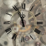 Old Hours With Figured Arrows Royalty Free Stock Images