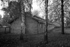 Old hous in Auschwitz Osventsim stock photos