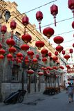 The old house,red and grey, Laodaowai Chinese Baroque the district of history and culture Stock Photo