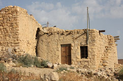 Old House. An old abandoned house in rural Jordan, Middle East stock photo