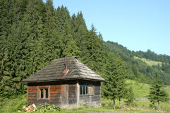 Old house. In mountains in Romania royalty free stock photo