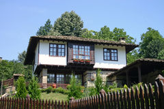 Old house. In summer. Natural and comfortable feelings stock photography
