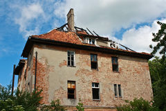 Old house. Old ruined house after fire and time Royalty Free Stock Photo