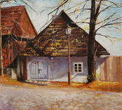 Old house. In Lanckorona-village in Poland.Picture I have created with acrylics