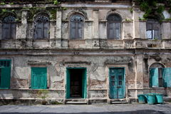 Old house. Ancient building neo palladium style Royalty Free Stock Photos